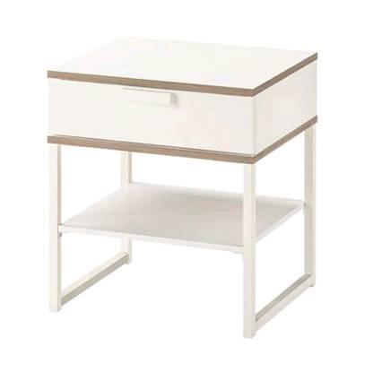 イケアIKEATRYSILトリスィルベッドサイドテーブル,ホワイト,ライトグレー45x40cm503.557.48