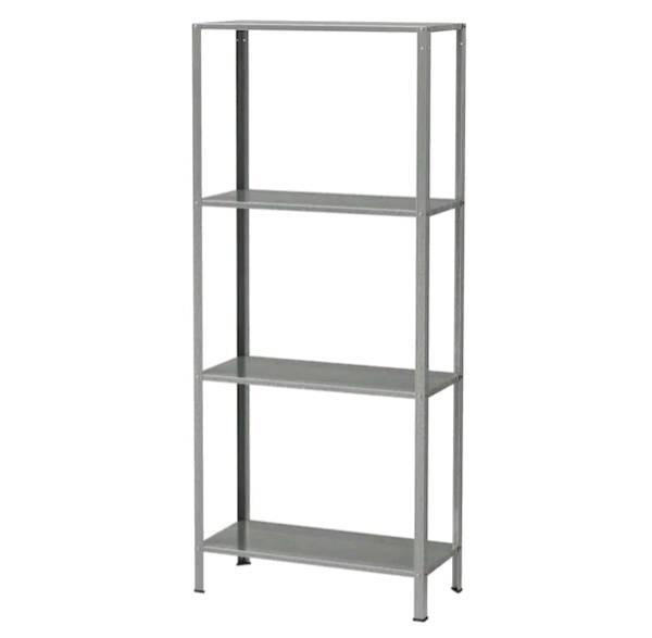 イケア IKEA HYLLIS ヒュッリスシェルフユニット, 室内/屋外用 亜鉛メッキ, 60x27x140 cm802.785.79【メール便不可】