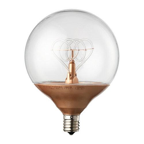 IKEA NITTIO イケア LED電球 E17 球形 コッパーカラー 303.210.33