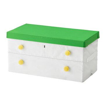 IKEA FLYTTBAR イケア ふた付きボックス, グリーン, ホワイト 303.288.45 【メール便不可】