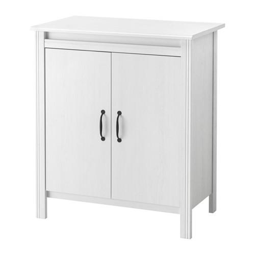 IKEA BRUSALI イケア ブルサリ キャビネット 扉付 ホワイト 703.528.43