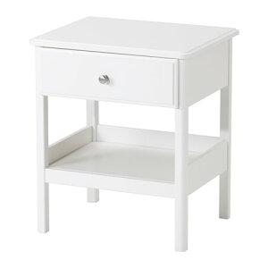 イケアIKEATYSSEDALベッドサイドテーブルホワイト502.999.60