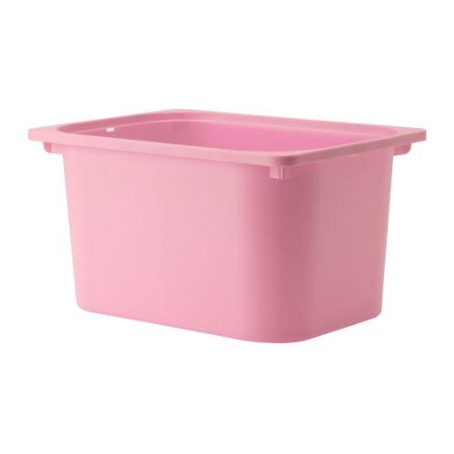 IKEA TROFAST イケア トロファスト 収納ボックス おもちゃ箱 ピンク 601.416.72の写真
