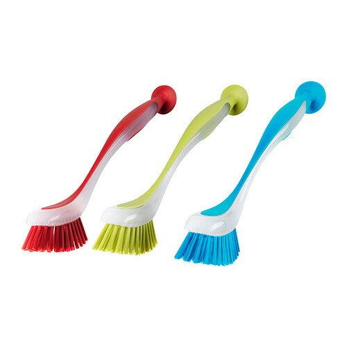 IKEA PLASTIS イケア 食器洗いブラシ アソートカラー レッド、グリーン、ブルー 301.661.26 【メール便不可】