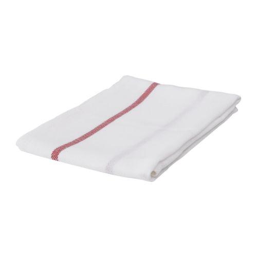 IKEA イケア TEKLA キッチンクロス ホワイトレッド 101.727.98【メール便不可】