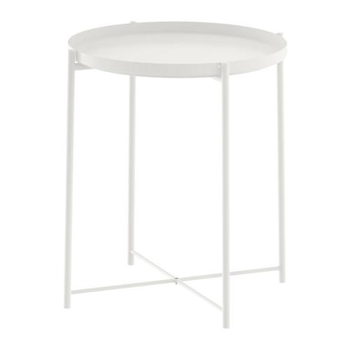 IKEA イケア GLADOM グラドム トレイテーブル, ホワイト 503.378.20