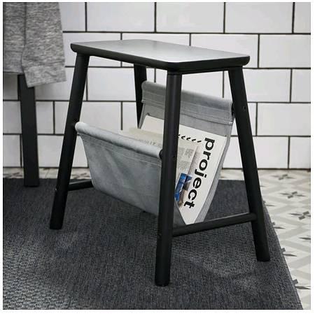 IKEAイケアVILTOヴィルト収納スツール,ブラック403.587.52【メール便不可】