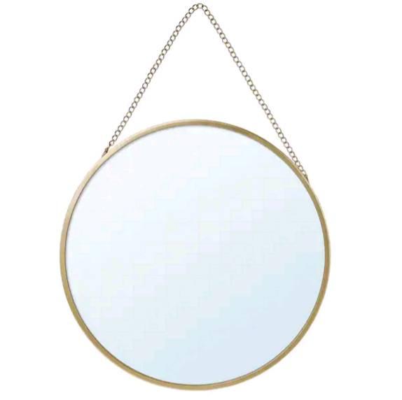 IKEAイケア LASSBYN ラスビーン, ミラー, ゴールドカラー, 25 cm704.710.30