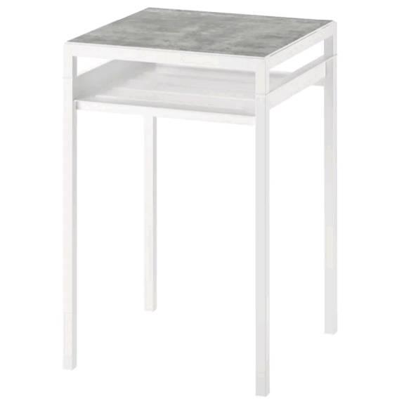 IKEAイケア NYBODA ニーボーダ サイドテーブル リバーシブルテーブルトップ, ライトグレー コンクリート調, ホワイト, 40x40x60 cm 604.526.35【メール便不可】