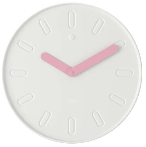 IKEA イケア SLIPSTEN スリープステン 時計 ウォールクロック, ホワイト35 cm 604.731.00【メール便不可】