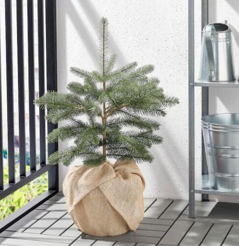 【NEW】IKEAイケアクリスマスVINTER2020ヴィンテル2020人工観葉植物,室内/屋外用ジュート/クリスマスツリーグリーン19cm504.746.33