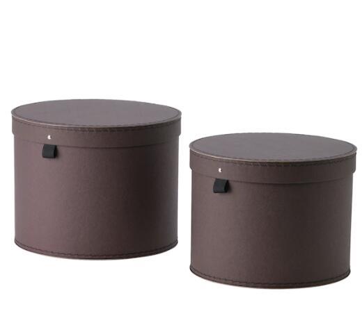 【NEW】IKEA イケア ANILINARE アンニリナレ 収納ボックス ふた付き 2点セット, ダークブラウン904.682.77