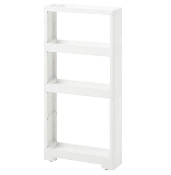 【NEW】IKEA イケアEKHARD エークハード収納ユニット キャスター付 プラスチック ホワイト40x12x84 cm904.652.26の写真