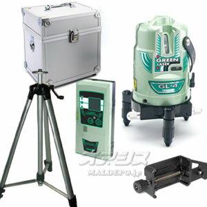 グリーンレーザー墨出し器(三脚・受光器付き) GL-4-W:オアシスプラス