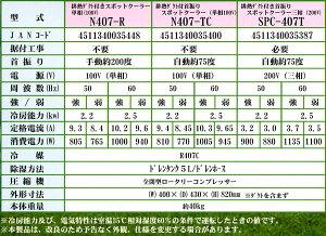 排熱ダクト付首振りスポットクーラーSPC-407T(三相200V)