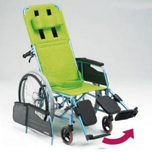 REMシリーズ REM-11 抗菌リクライニングタイプ 自走式車椅子:オアシスプラス
