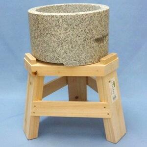 御影石もち臼(餅つき用石臼)・ヒノキ木台セット1升用
