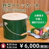 【OBAKETSU】野菜ストッカー大 YS30G (じゃがいも7.2kgサイズ・緑)
