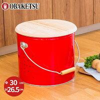 【OBAKETSU】野菜ストッカー大 YS30R(じゃがいも7.2kgサイズ・赤)