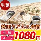 【生麺・秋田の麺家 秋田うどん5食箱】