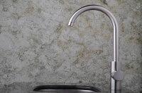 水栓金具蛇口水栓洗面水栓洗面手洗いボウル用混合水栓シングルレバーワンレバー洗面用水栓金具KOJ-43bks