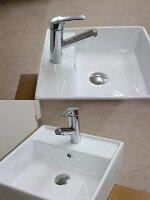水栓金具蛇口水栓洗面水栓洗面手洗いボウル用混合水栓シングルレバーワンレバー洗面用水栓金具KOJ-B3