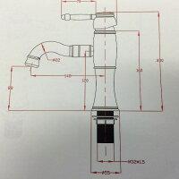 水栓金具蛇口水栓洗面水栓洗面手洗いボウル用混合水栓シングルレバーワンレバー洗面用水栓金具KOJ-48G