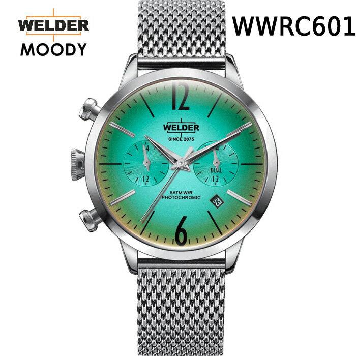 ガラスの色が変わる新感覚ウォッチ WELDER MOODY DUAL TIME ウェルダー ムーディー  WWRC601 WWRC615 デュアルタイム 腕時計 ケースサイズ38mm メッシュバンド MESH スティールモデル 国内正規品 男女兼用  メーカー正規2年間保証付
