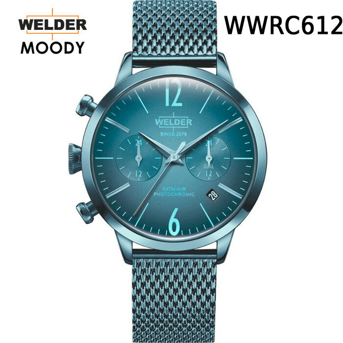 ガラスの色が変わる新感覚ウォッチ WELDER MOODY DUAL TIME ウェルダー ムーディー WWRC600 WWRC602 WWRC603 WWRC605 WWRC606 WWRC610 WWRC611 WWRC612 WWRC626 WWRC631 WWRC636 腕時計 ケースサイズ38mm 国内正規品 男女兼用  メーカー正規2年間保証付