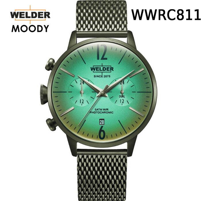 ガラスの色が変わる新感覚ウォッチ WELDER MOODY DUAL TIME ウェルダー ムーディー WWRC803 WWRC804 WWRC809 WWRC810 WWRC811 WWRC812 WWRC813 デュアルタイム 腕時計 ケースサイズ42mm メッシュバンド  カラーモデル 国内正規品 男女兼用  メーカー正規2年間保証付