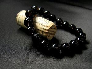 天然石 パワーストーン メンズ ブレスレット チベット 黒水晶 魔除け・厄除けの代表的な聖石【...