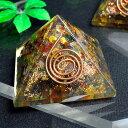 送料無料  パワーストーン オルゴナイト ピラミッド 置き物重さ:約343...