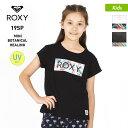 【キャッシュレス5%還元】 ROXY ロキシー キッズ 半袖 Tシャツ TST191118 ブラック クルーネック 黒色 ティーシャツ 白色 ロゴ ホワイト ジュニア 子供用 こども用 女の子用