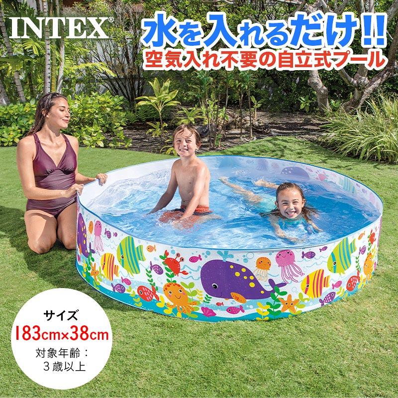 [直径183×高さ78cm]INTEX プール