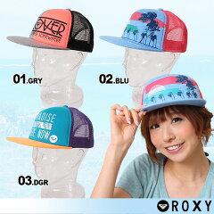 ROXY/ロキシー レディース メッシュ キャップ帽子 ぼうし ハット スナップ キャップ 紫外線対策 UV対策 アウトドア