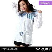ROXY/ロキシー レディース ロング丈 ラッシュガード パーカー RLY151048 ラッシュパーカー 長袖 フード付き 体型カバー ジップアップ 女性用 人気