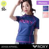 ROXY/ロキシー レディース 半袖 ラッシュガード RLY161038 Tシャツタイプ 水着 みずぎ 紫外線カット UVカット UPF50+ 女性用 人気 ブランド おしゃれ かわいい