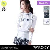 ROXY/ロキシー レディース 長袖 ラッシュガード RLY165082 Tシャツタイプ 水着 みずぎ 紫外線カット UVカット UPF50+ 女性用 人気 ブランド おしゃれ かわいい