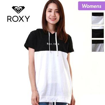ROXY/ロキシー レディース 半袖 ロング Tシャツ RST181110 ティーシャツ トップス ロング丈 フード付き 女性用