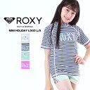 【キャッシュレス5%対象】ROXY ロキシー キッズ 半袖 ラッシュガード TLY181106 水着 みずぎ 紫外線対策 UVカット Tシャツタイプ かぶり かわいい ジュニア 子供用 こども用 女の子用