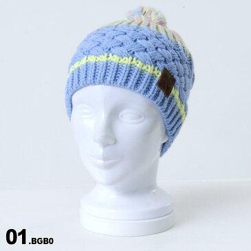 ROXY/ロキシー レディース ニット帽 シングル ERJHA03410 ビーニー 帽子 ぼうし ニットキャップ ポンポン付き スキー スノーボード スノボ 防寒 女性用
