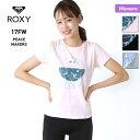 ROXY ロキシー レディース 半袖 Tシャツ RST174107 ティーシャツ フィットネスウェア スポーツウェア 吸汗速乾 ジム ヨガ 女性用