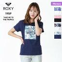店内全品P5倍 ROXY/ロキシー レディース 半袖 Tシャツ RST191175 ティーシャツ ロゴ クルーネック 白 ホワイト 黒 ブラック ネイビー 女性用