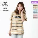 【キャッシュレス5%還元】 ROXY/ロキシー レディース 半袖 Tシャツ RST191181 ティーシャツ ロゴ クルーネック ボーダー ベージュ ブルー ピンク 女性用