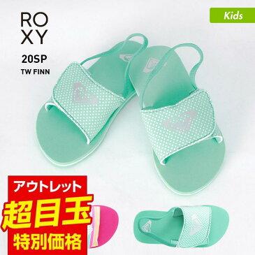 ROXY/ロキシー キッズ ビーチサンダル AROL100012 サンダル ペタサンダル ビーサン バックストラップ付き 柄 ビーチ 海水浴 プール ジュニア 子供用 こども用 女の子用