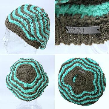 VOLCOM/ボルコム レディース ベレー型ニット帽子{E5841302}毛糸の ぼうし シングル ロゴ柄 ヴォルコム
