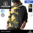 VOLCOM/ボルコム メンズ 長袖 プルオーバー パーカー G2451707 スノーウェアのインナーに 撥水加工 フード付き 男性用