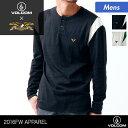 VOLCOM/ボルコム メンズ ロングTシャツ A0341604 ロンT ティーシャツ ANTIHEROコラボアイテム スナップバックタイプ 男性用