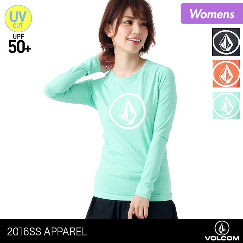 VOLCOM/ボルコムレディース長袖ラッシュガードTシャツタイプO4211505ティーシャツ水着みずぎUVカット紫外線カットUPF50+女性用人気ブランドおしゃれ