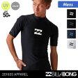 BILLABONG/ビラボン メンズ 半袖 ラッシュガード AG011-850 Tシャツタイプ 紫外線カット 水着 UVカット UPF50+ 海水浴 プール 男性用